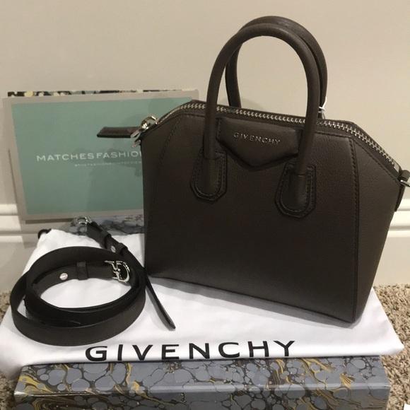 7a0917bb54bb Givenchy Mini Antigona Bag in Heather grey